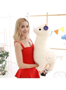 White Alpaca Stuffed Animal Plush Toy For Girlfriend Children Friends