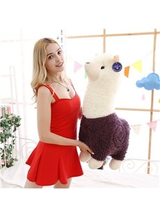 Cute Red and Purple Alpaca Plush Toy