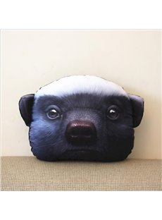 Creative 3D Animal Face Car Neck Soft Pillow