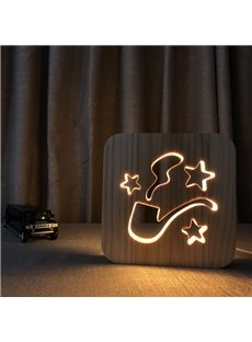 Creative Natural Wooden Pipe Pattern Light for Kids