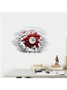 Steering Wheel Shaped 3D Creative Decoration Wall Clock