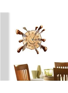 Soccer Shaped 3D Decoration Wall Clock with Removable Sticker