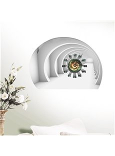 Tunnel and Spiral Galaxy Design 3D Decorative Wall Clock