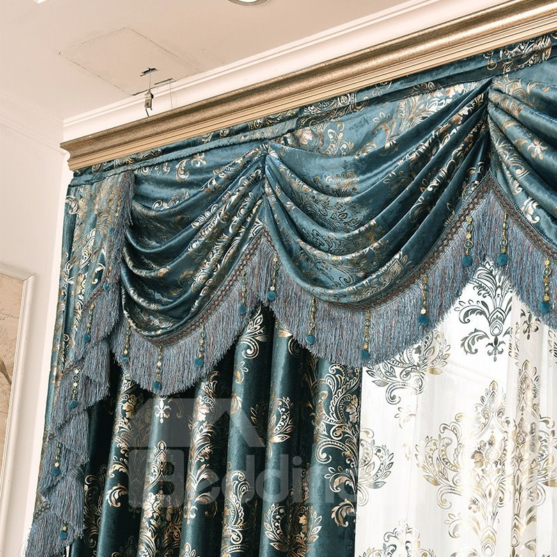 Royal Design Classic Hand-made Embroidery Drapes Grommet 2 Panels for Living Room