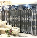 Thick Hand-made Embroidery European Drapes Grommet 2 Panels for Living Room