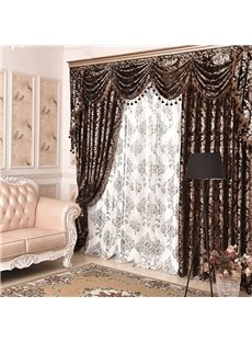 Classic Embroidery Drapes Grommet 2 Panels Sheer for Living Room