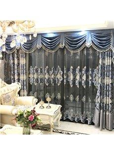 Luxury and Elegant Blue Curtain Living Room and Bedroom Decorative Custom Sheer Curtain