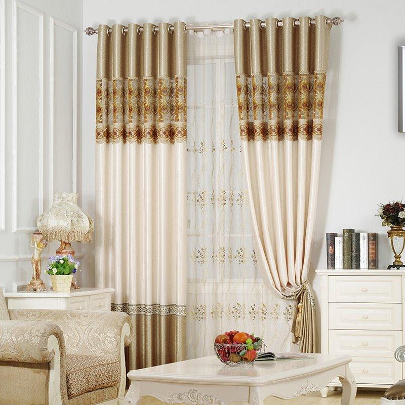 Simple Design Gold Soft Curtain Grommet Drapes