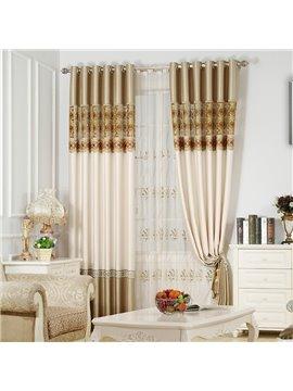 Luxury Classical and European Style Living Room Custom Sheer Curtain
