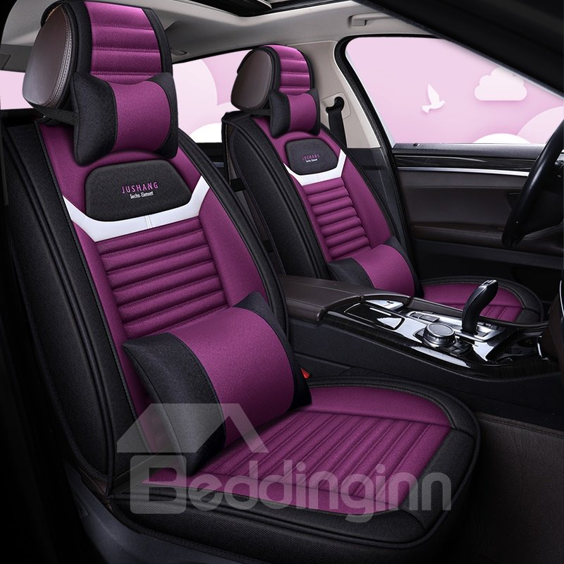 Color Blocking Matching with Comfortable Seating PU Leather Material Car Seat Covers