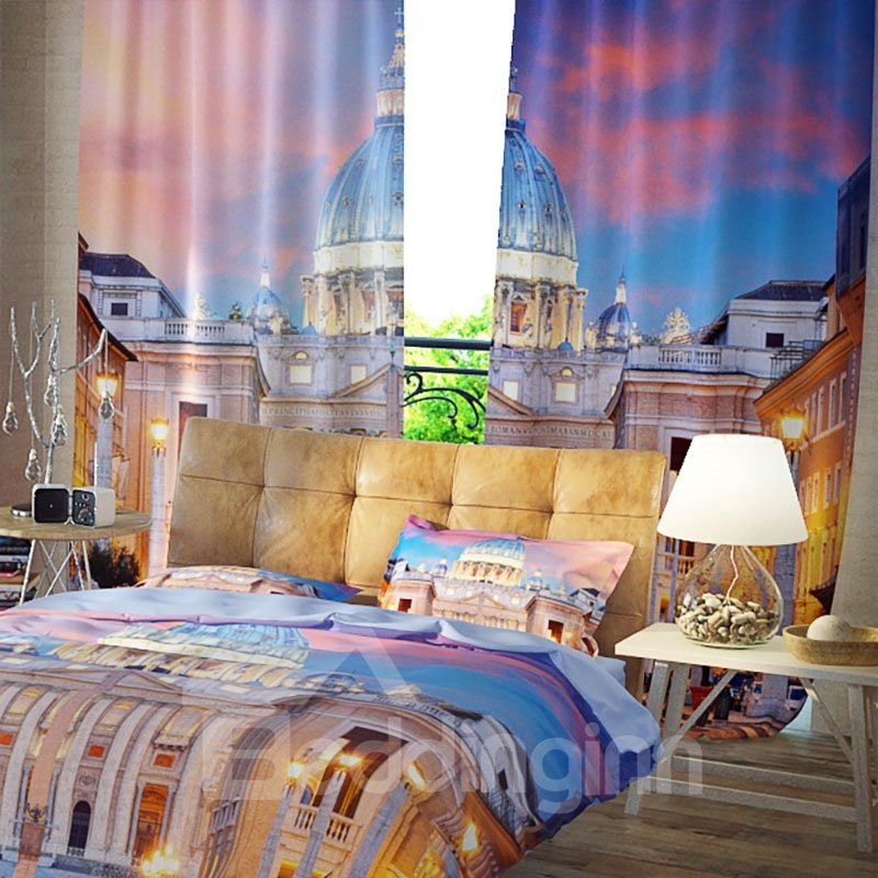 3D Blackout Curtains for Bedroom and Living Room