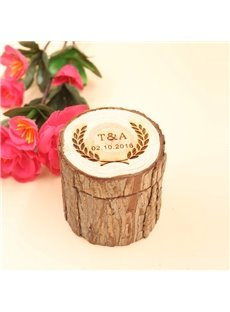 Personalized Wedding Rustic Wedding Ring Holder Box
