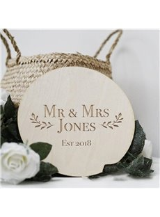 Personalized Custom Name & Date Wooden Wedding Guest Book