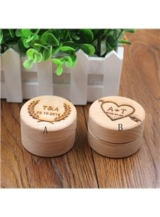 Custom Unique Rustic Handmade Wooden Wedding Ring Holder