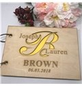 Personalized Wedding Guest Book A5 Size Rustic Wedding Gift
