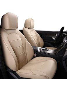 PU Material Business Style Stripe Patterns Custom Fit Seat Covers
