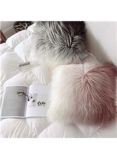 Home Decorative Super Soft Plush Fur Throw Pillow