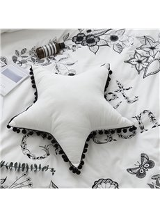 Pure Color Five-pointed Star Shaped Throw Pillow