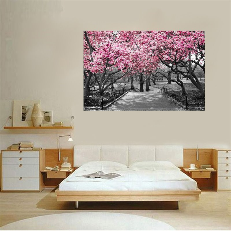 Wall Art Cherry Blossoms Painting Home Decor