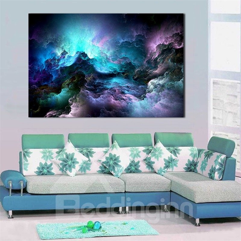 Wall Art World Colored Clouds Painting Home Decor