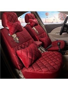 Classic Plaid Heat Retaining Pure Color Custom Car Seat Covers