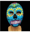 Funny and Smiling Face Multicolor Patterns Mask for Halloween Gift