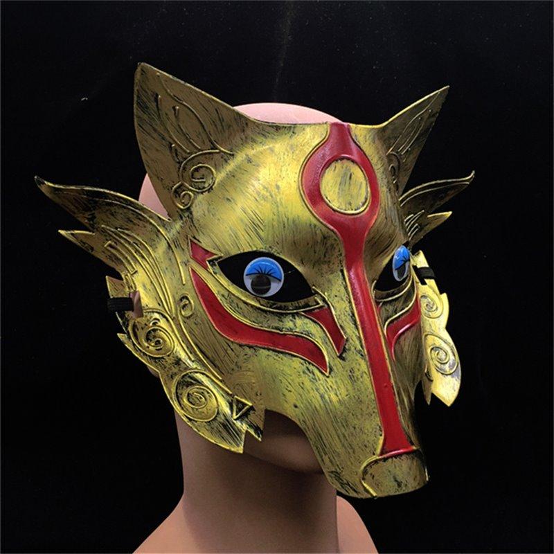 Distinctive Werewolves Plastic Mask for Halloween Gift (Golden or Silvery)