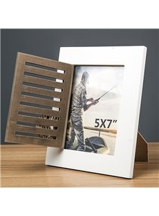 5/6/7 inch Vintage Natural Wood Color Photo Frame for Table Display