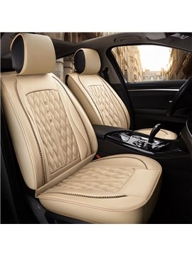 PU Material Diamond Pattern Design Universal Five Car Seat Covers