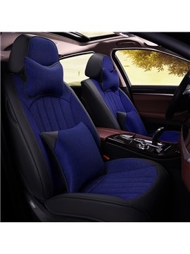 Sports Style 3D Stripes Design PU Material Universal Car Seat Covers