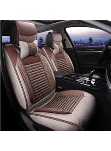 Durable Cost-Effective Breathable Linen Universal Five Car Seat Covers