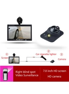 7-inch Car Display LED-sensing Car Camera Side-view Reversing Image System