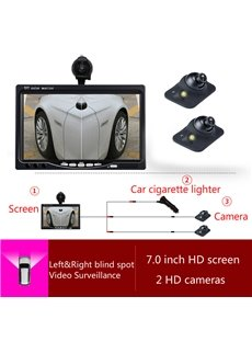 7-inch Car Display LED-sensing 2pcs Car Camera Side-view Reversing Image System
