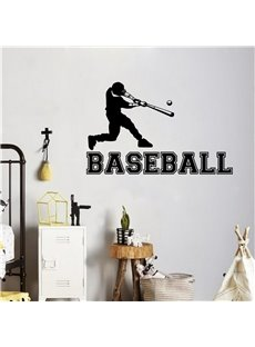 Removable Baseball Player Kids Bedroom Wall Stickers