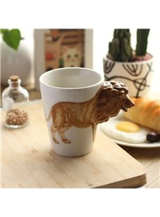 3D Vivid Forest Animals Hand-printed Ceramic Coffee Cup
