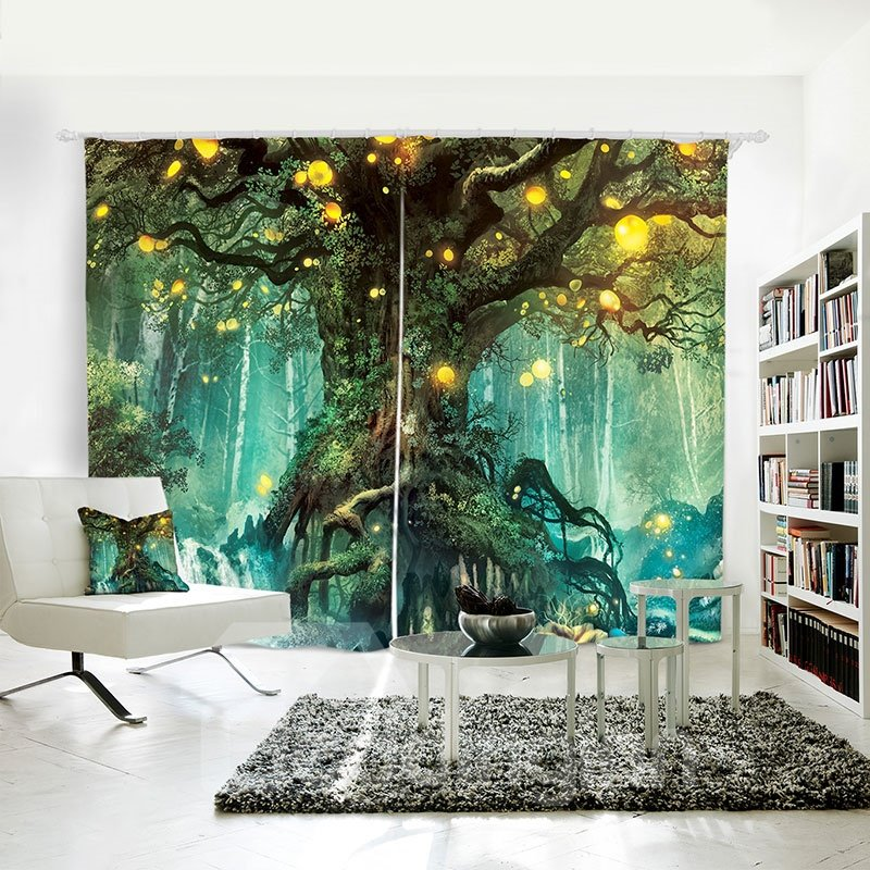 3d Blackout Fairy Fantasy Large Tree Pattern Digital Pic