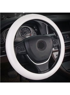 Simple Style PVC Material Color Block All Seasons Steering Wheel Cover