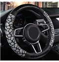 PVC Material Color Block All Seasons Simple Style Steering Wheel Cover