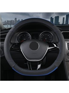 PVC Material Color Block All Seasons Business Style Steering Wheel Cover