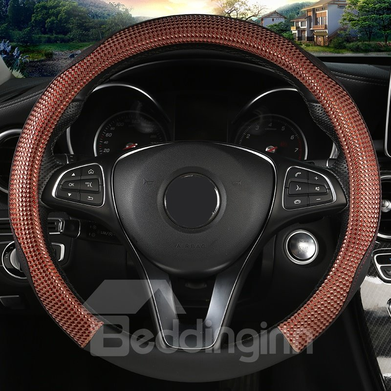PVC Material All Seasons Sport Style Steering Wheel Cover