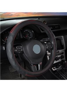 Simple Style Leather Color Block Steering Wheel Cover