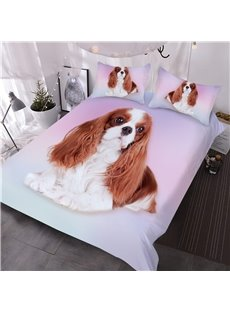 Cavalier King Charles Spaniel Dog Printed 3D 3-Piece Comforter Sets