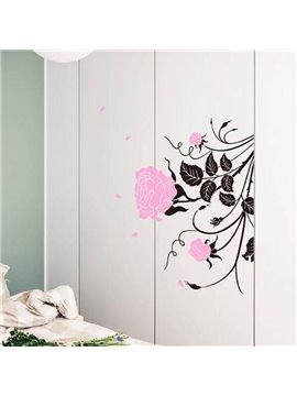 Removable Rose Pattern Wall Stickers
