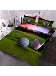 Golf Ball with Wedge 3D Printed 3-Piece Comforter Sets