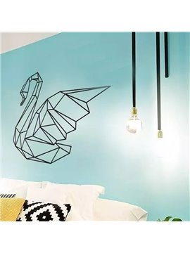 Removable Geometric Swan Pattern Wall Stickers