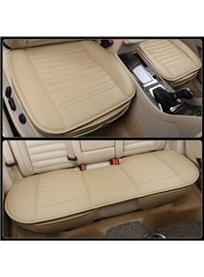 Simple Style Plain Pattern PU Leather Universal Fit Car Seat Mat