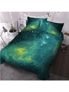 3D Printed 3-Piece Comforter Sets Golden Spiral Dreamy  Starry Galaxy Polyester Bedding Sets Ultra-soft No-fading Twin Full Queen King 1 Comforter 2 Pillowcases