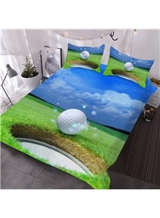 Golf Ball on Edge of Cup 3D Printed 3-Piece Comforter Sets
