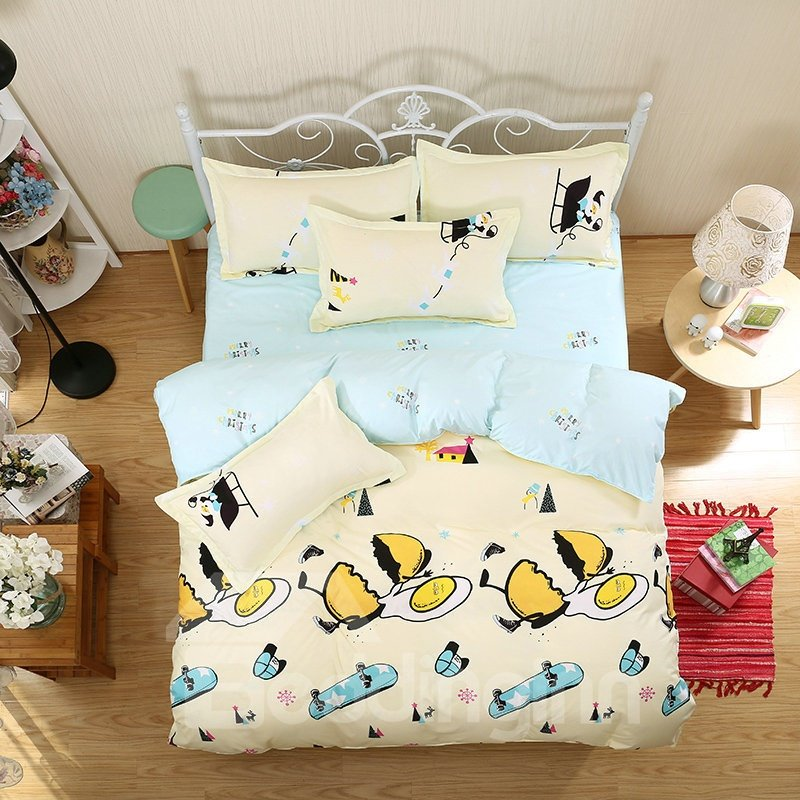 Ultra Soft Snug and Comfortable Aloe Vera Cotton 4-Pieces Kids Bedding Sets