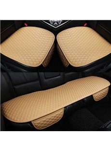 Business Style Plain Pattern Microfiber Material Universal Fit Car Seat Mat